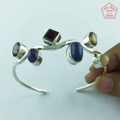 Prestige's Design 925 Sterling Silver Multi Stone Bangle P3348…