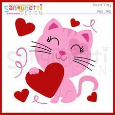 Sweet Valentine kitty clipart holding a heart with swirl and heart accents. Great for your holiday projects File Formats: 300 dpi JPG, Transparent PNG Size: about 7 inches. Graphics Included: 1 If you are looking for a SVG cutting file you can find it at Valentines Day Clipart, Cat Valentine, Cat Crafts, Paper Crafts, Doodle People, Cat Clipart, Monkey Girl, Chalkboard Art, Planner Stickers