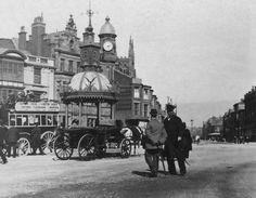 Talbot Square.. Blackpool.. 1893 Old Pictures, Old Photos, Glasgow, Edinburgh, Blackpool England, Great Britain, Dublin, Talbots, Big Ben