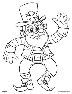 Leprechaun Hunt Activity:  Free coloring page printable plus directions for a leprechaun hunt activity from Lakeshore Learning.