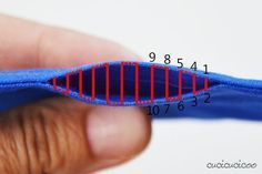 How to ladder stitch (or invisible stitch). This hand sewing technique is essential to closing up the openings in sewn projects without any visible threads. Photo and video tutorial on www.cucicucicoo.com