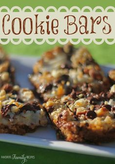 Easiest chocolate chip cookie bar recipe ever...