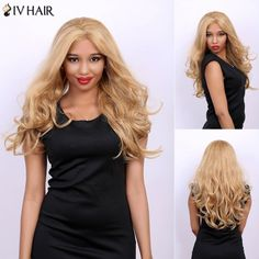 Wavy Long Fluffy Centre Parting Real Natural Hair Siv Wig #>=#>=#>=#>=#> Click on the pin to check out discount price, color, size, shipping, etc. Save and like it!