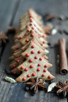 Original recipe seems to be in Russian, so that's no good! But I love the idea of gingerbread trees with iced baubles