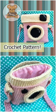 Christmas Gifts What a fun little retro camera purse crochet pattern! This looks like a great handmade gift to make for a teen!What a fun little retro camera purse crochet pattern! This looks like a great handmade gift to make for a teen! Crochet For Beginners, Crochet For Kids, Crochet Baby, Free Crochet, Crochet Christmas Gifts, Christmas Bags, Crochet Gifts, Purse Patterns, Weaving