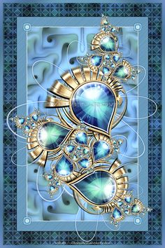 Teardrop Jewel by Velvet--Glove