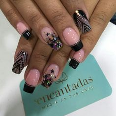 J Nails, Goth Nails, Glitter Nails, Hair And Nails, Manicure, Pretty Nail Designs, Toe Nail Designs, Marble Nail Art, Easter Nails