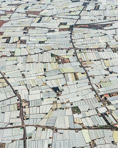 Amazing Aerial Photos of Greenhouses Blanketing the Spanish Landscape