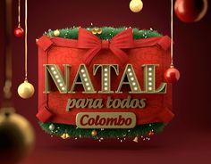 Logo de Natal elaborado para as Lojas Colombo.