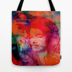 Slice of America Tote Bag by Ganech joe - $22.00