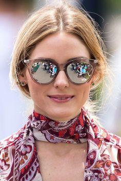 Olivia Palermo @oliviapalermo #sunglasses #shades