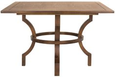Safavieh Furniture AMH6645C - The rustic-chic Ludlow square dining table adapts with ease to country and urban interiors. Crafted of elm with a chestnut finish, its unique base and plan