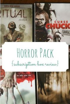 Get ready to face your fears with Horror Pack, a subscription box for scary movie fans. Get four horror movies delivered straight to your door.