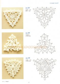 SOLO PUNTOS: crochet triángulos