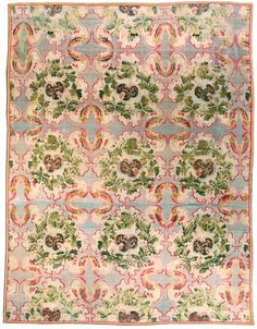 A Russian Bessarabian rug - by Doris Leslie Blau. A whimsical late century antique Russian Bessarabian rug, the abrashed pale blue field with an overall . Carpet Sale, Rugs On Carpet, New York Galleries, Fabric Rug, Textiles, Home Rugs, Persian Rug, Handmade Rugs, Vintage Rugs