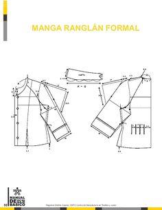 Manual de patronaje CMT - SENA Sewing Coat, Sewing Doll Clothes, Fashion Sewing, Fashion Fabric, Clothing Patterns, Sewing Patterns, Pattern Drafting Tutorials, Modelista, Sewing Basics