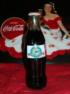 Coca Cola Classic Miami Dolphins 25 Anniversary Perfect Season 1972 Coke Bottle #Coke