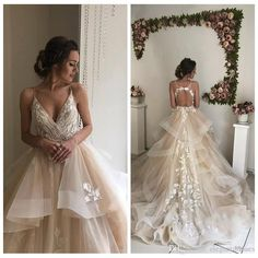 Discount 2019 Sexy Spaghetti Lace Appliques Wedding Dresses Ruffles Open Back Bridal Gowns Sleeveless Ruffles Vestidos De Mariee Formal Inexpensive Wedding Dresses Red Wedding Dress From Elegantdresses, $165.83| DHgate.Com
