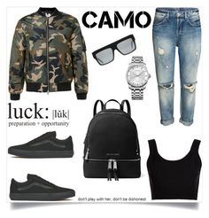 """""""Camo 🍃"""" by http-dejour ❤ liked on Polyvore featuring Calvin Klein Collection, Vans, MICHAEL Michael Kors and Calvin Klein"""