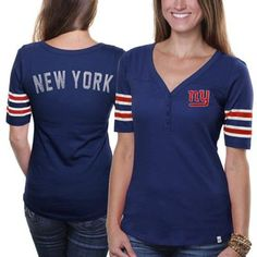 '47 Brand New York Giants Ladies Playoff T-shirt - Royal Blue