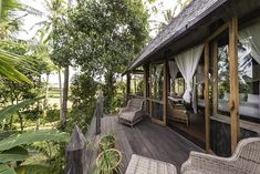 Boutique Hotel Ubud with four unique luxury rooms surrounded by lush jungles and emerald green rice paddies. Book your stay at Stonehouse Bali. Located north of Ubud. Ubud, Bali Resort, Luxury Rooms, Stone Houses, Patio, Boutique, Outdoor Decor, Holiday, Home Decor