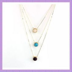 Beautiful 3-Tier Stone Necklace