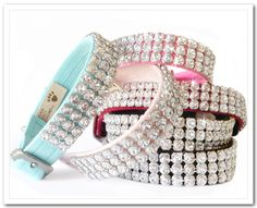 Collar for Pinkie! Luxury Dog Collars, Dog Carrier, Collar And Leash, Dog Supplies, Dog Toys, I Love Dogs, Swarovski Crystals, Jewelery, Pets