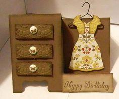 Dress Up framelit card - Stampin Up card using Dress Up framelits