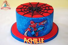 Cute Spiderman Cakes | My friend asked me to did spiderman cake. Well usually i always make ...