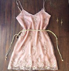 vestido rosa bordado verano 2016 Love pajaro