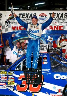 June 5, 2009: Todd Bodine, driver of the #30 CoPart.com Toyota, celebrates in Victory Lane after winning the NASCAR Camping World Truck Series WinStar World Casino 400