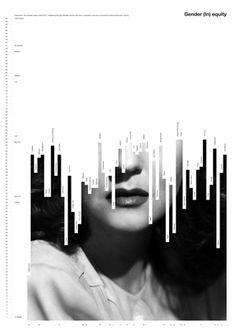 Gender (In) equity de Fabio Caselli, Suisse. Gender (In) equity de Fabio Caselli, Suisse. Design, Graphic Poster, Graphic Design Typography, Typography Design, Graphic Design Illustration, Illustration Design, Visual Design, Data Design, Cover Design