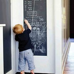 Stick-on Wall Blackboard for Home Perfect for Kitchen, Study, Home Office, Children Removable Mural Decal