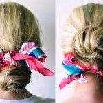 Découvrez comment bien porter un foulard cheveux longs et courts, astuces pour se coiffer, attacher et faire tenir son foulard sur sa tête.