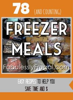 Freezer Meal Recipes Master List