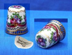 LIMOGES-HAND-PAINTED-FLORAL-PATTERN-THIMBLE-SIGNED / Oct 10, 2014 / GBP 33.00