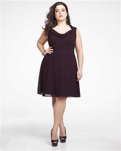 flared printed dress | Addition Elle