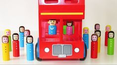 Learn Colors Geometrical ShapesWith Double decker Taxi bus wooden baby toy educational video - http://ift.tt/1mZZxO9