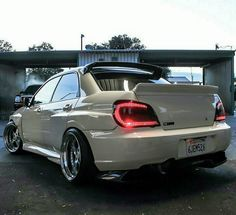 Impressive Subaru Impreza WRX STi; tasteful body mods, rims, and LEDs.
