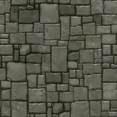Show your hand painted stuff, pls! - Page 8 - Polycount Forum Texture Mapping, 3d Texture, Stone Texture, Tiles Texture, Dungeon Tiles, Dungeon Maps, Game Textures, Textures Patterns, Rpg Map