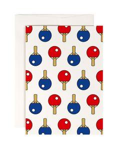 #0084 ping pong, Postkarte DIN A6, www.redfries.com