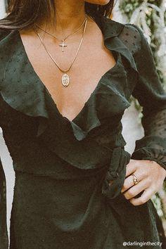 Sheer Ruffle Wrap Dress