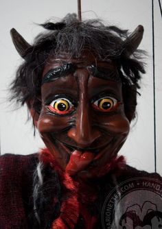 Devil marionette puppet by CzechMarionettes on Etsy,