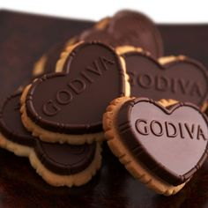 Our Dark Chocolate Truffle Heart Biscuit Gift Pack features traditional European heart-shaped biscuits that are topped with a dark chocolate tablet filled with smooth chocolate truffle creme. Crisp, buttery, and full of GODIVA's unmistakable chocolate richness.