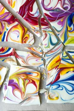 Marbleized Chocolate Bark | Community Post: 17 Rainbow Desserts That Are As Pretty As They Are Yummy