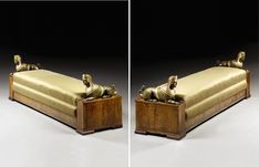 A PAIR OF ITALIAN WALNUT PAINTED AND PARCEL-GILT BANQUETTES,
