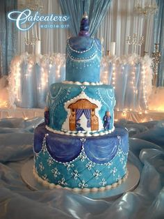 Indian weddings cake by cakeaters.art, via Indian Cake, Indian Wedding Cakes, White Wedding Cakes, Elegant Wedding Cakes, Beautiful Wedding Cakes, Beautiful Cakes, Indian Weddings, Blue Wedding, Amazing Cakes