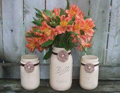 Votive Candle Holder / Mason Jar Wedding by CarolesWeddingWhimsy, $29.99
