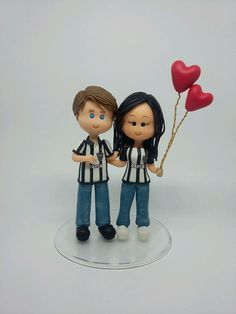 Anniversary Cake Pictures, Human Figures, Cake Images, Doha, Cold Porcelain, Cake Toppers, Smurfs, Fondant, Biscuits