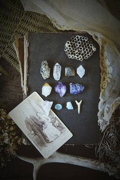 Crystal curio and cabinet card set • altar kit • spell bundle • apothecary • curiosity set • crystal collection • witch bundle